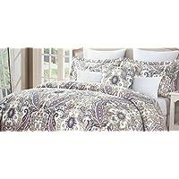 fresh modern yellow gray white damask king comforter