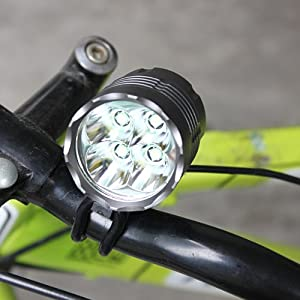 mondpalast @ 4 X CREE XM-L XML T6 LED Foco delantero Faro delantero 5400 Lum SET Para bicicleta de acampar