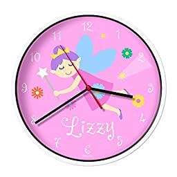 Olive Kids Personalized Fairy Princess (Light Skin) Clock with White Case