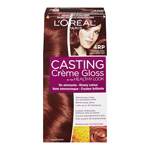 L'Oreal Healthy Look Creme Gloss Hair Color, 4RR Vibrant Dark Auburn, Sweet Cherry (Loreal Red Dye For Dark Hair compare prices)