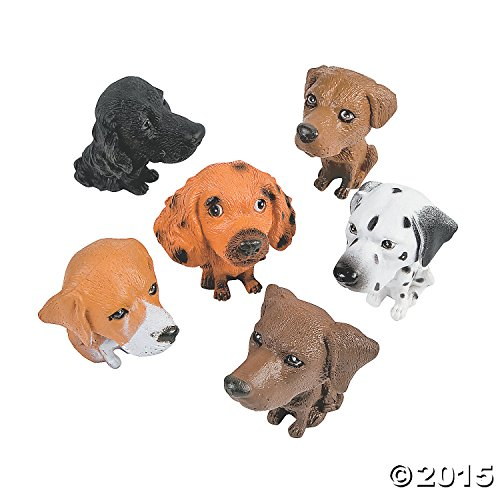 Plastic Big Head Puppies (1 dz)