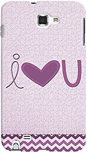 PRINTVISA I Love You Case Cover For Samsung Galaxy Note 1