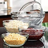 Set of 5 Different Glass Multi-purpose Mini Mixing / Prep Bowls - Gift-boxed
