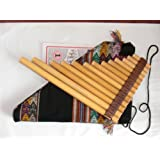 flûte de pan, antara professionnelle de 13 tubes avec méthode, partitions et housse de protection