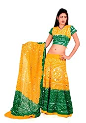 Pezzava Cotton Bandhej Lehenga Choli For Women's