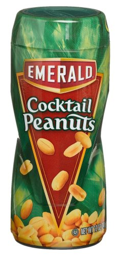 Emerald Cocktail Peanuts 12 Ounce Canisters Pack of 12