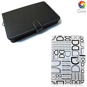 Gini 7 inches Flip cover forSamsung TAB 2 P3110Combo of Black And White DD text