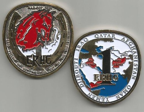 1st Expeditionary Red Horse Group 557-809 ERHS Iraq Afghanistan Challenge Coin