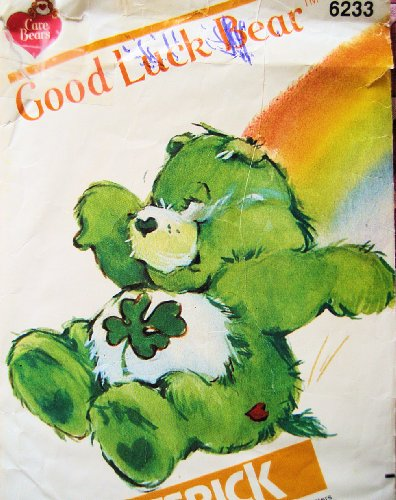Care Bear Good Luck Bear Sewing Pattern Butterick 6233 Vintage 1983 Stuffed Bear front-526812