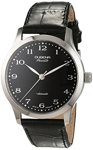 Dugena 7000051 - Reloj para hombres, correa de cuero color negro