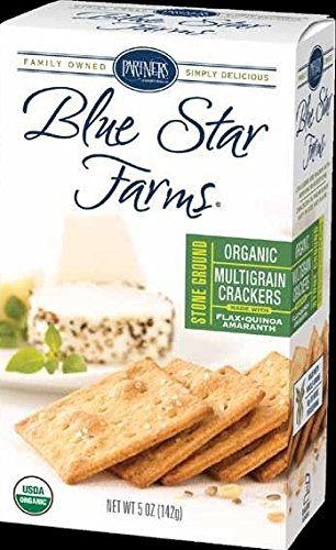 Blue Star Farms ORGANIC Stoned Ground Multigrain Bite-Size Crackers, 5-Ounce Boxes (Pack of 6) (Organic Blue Corn Flour compare prices)