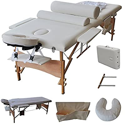 "84""l Massage Table Portable Facial SPA Bed W/sheet+cradle Cover+2 Bolster+hanger Ship USA"
