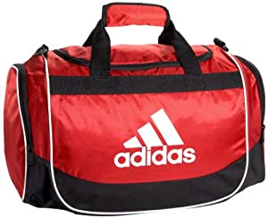 adidas Defender Small Duffel, One Size/11 3/4 x 20 1/2 x 11-Inch, University Red