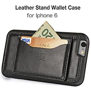 Amazon.com: iphone 6S leather wallet case, ZVE [Wallet