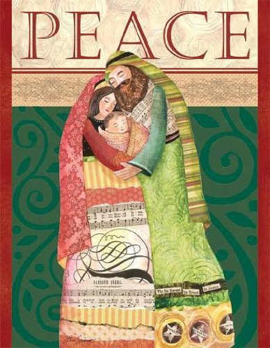 """Boxed Christmas Cards By Lang: """"Be At Peace"""" W/ Beautiful Artwork By Lori Siebert"""