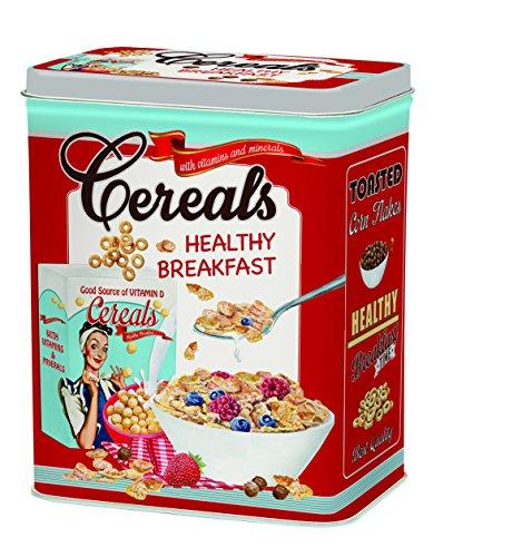 R2S 093CERE Boîte à Céréales Métal Multicolore 19 X 10,5 X 24 cm