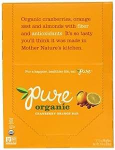 Pure Organic Raw Fruit & Nut Bars (Pack of 12)