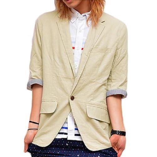 BENO homme(ビーノオム) 綿麻1B七分袖ジャケット L キナリ(02)