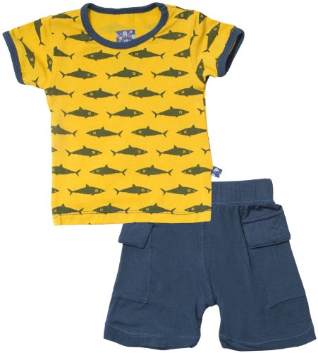 KicKee Pants Baby Boys' Print Boy Outfit Set (Baby) - Lemon Shark