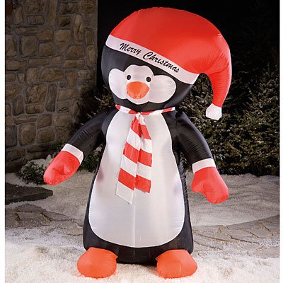 8' Airblown Inflatable Penguin Lighted Christmas