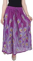 Soundarya Women's Cotton Skirt (Purple)