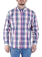 TIME OF BOCHA Camisa Hombre (Azul / Rosa)