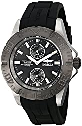Invicta Men's 14386 Pro Diver Black Dial Black Polyurethane Watch
