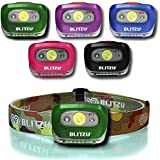 Headlamp Flashlight with LED Red Light. Brightest Blitzu i2 Headlight for Kids, Men, and Women. Waterproof. Perfect Head Light For Running, Walking, Reading, Camping, Home Projects and Emergency