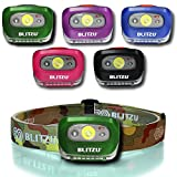 Brightest LED Headlamp with Red Light - Blitzu i2 Headlight Flashlight for Kids, Men, and Women. Waterproof. Perfect Head Light For Running, Walking, Reading, Camping, Home Projects and Emergency CAMO