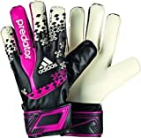 Adidas Predator Fingersave Boys' Goalkeeper's Gloves Multi-Coloured Black/Wht/Vivber/Sol Size:5.5