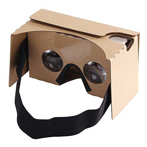 Virtoba Cardboard V2 3d Vr Virtual Reality DIY 3D Glasses for Smartphone with Headband.