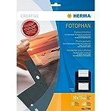 Herma 7786 Fotosichthüllen (100 x 150 mm) 10 Hüllen schwarz