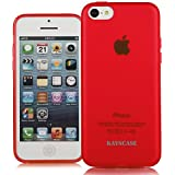 KAYSCASE Slim Soft Gel Cover Case for Apple iPhone 5C Smartphone Cell Phone (Red)