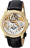 Stuhrling Original Men's 213T.333X2 Tourbillon Limited Edition Saturnalia Tourbillon Mechanical Power Reserve Indicator Gold Tone Watch