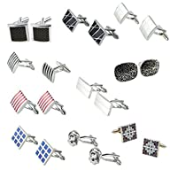 niceEshop(TM) Modern Stripe Cufflinks…