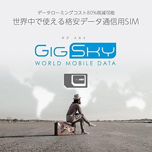 GigSky(ギグスカイ)– 海外用プリペイド 格安データ通信SIM世界中で高速 4G LTE / 3G通信無料100MBデータ付