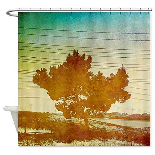 Cafepress Rustic Tree Shower Curtain - Standard White
