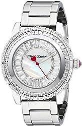 Betsey Johnson Women's BJ00301-01 Analog Display Quartz Silver Watch