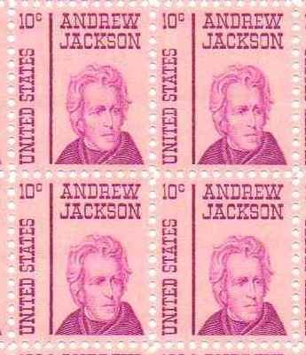 Andrew Jackson Set of 4 x 10 Cent US Postage Stamps NEW Scot 1286