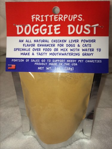 MADE IN USA - DOGGIE DUST 1OZ SAVORY CHICKEN LIVER POWDER DRY DOG FOOD FLAVOR ENHANCER TREAT