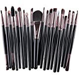 AMarkUp 20 Pcs Pro Makeup Brushes Set Powder Foundation Eyeshadow Eyeliner Lip Cosmetic Clearance Brush (Black...