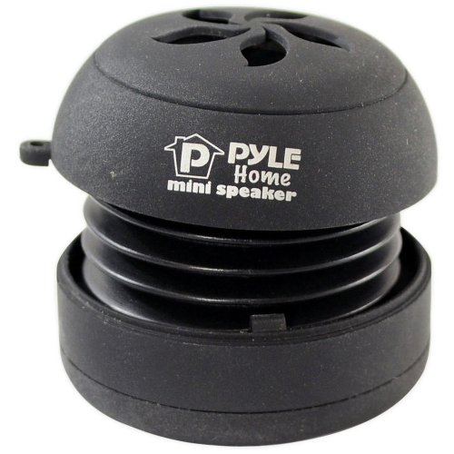 Pyle Home PMS2B Mini Capsule Rechargeable Speaker for iPod/MP3/MP4/Computer/Laptop/Notebook/Audio/Gaming-Devices/PDA (Black)