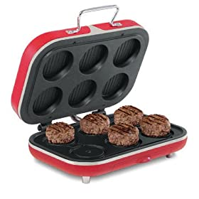 13433 BEC Slider Hamburger Grill Red