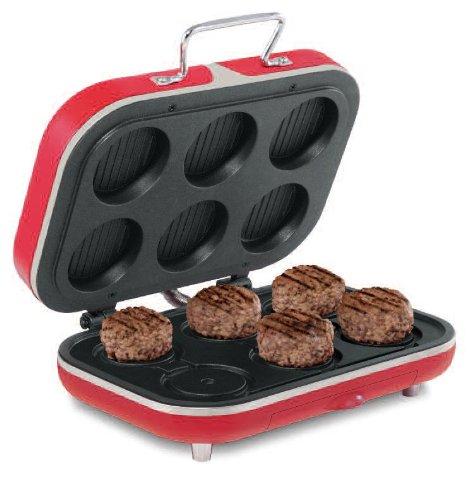 13433 BEC Slider Hamburger Grill Red