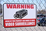 "VIDEO SURVEILLANCE Warning Sign with 3M Reflective Vinyl Coating ""12x18"""