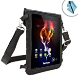 USA Gear Mobile Tablet Case with Shoulder Strap & In-Car Viewing Mount with Touch Capacitive Screen Protector - Works with Advent Vega Tegra Note 7 / Tesco Hudl / Asus Memo Pad 7 (ME176CX) and many more!
