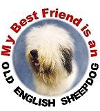 2 Old English Sheepdog Car Stickers My Best Friend