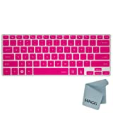 MiNGFi Silicone Keyboard Cover Protector Skin for 13.3 Samsung ATIV Book NP940X3G NP900X3E NP900X3C NP900X3D NP900X3F series US Keyboard Layout - Translucent Hot Pink