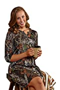 Mossy Oak Gown Ladies Huntress Silky Camo Nightgown S-XXL