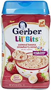 Gerber Baby Cereal - Banana Strawberry - 8 oz